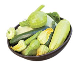 courgettes basilic pignons