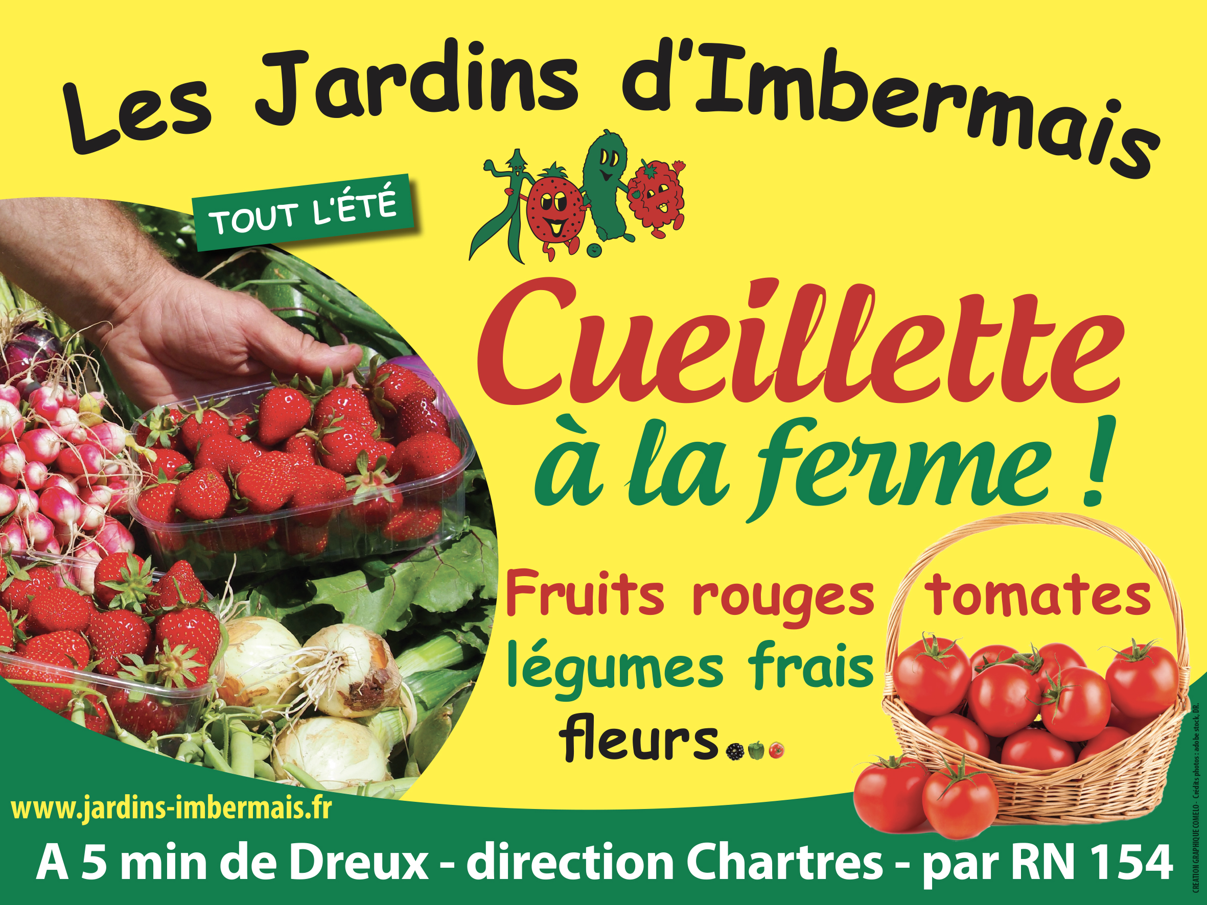 jardins imbermais, fraises, été